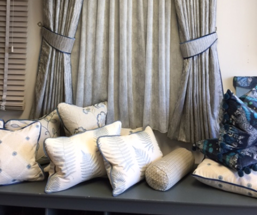 Curtains with matching cushions