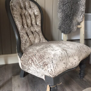 Grey Spoon Back Chair